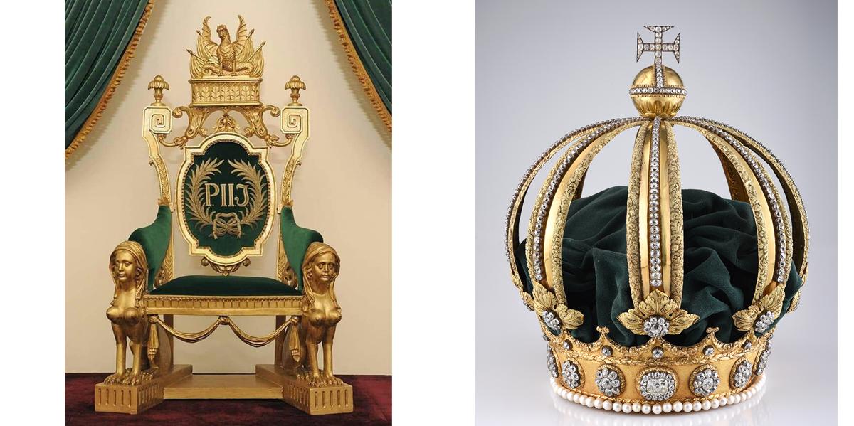 Trono e Coroa de Dom Pedro II