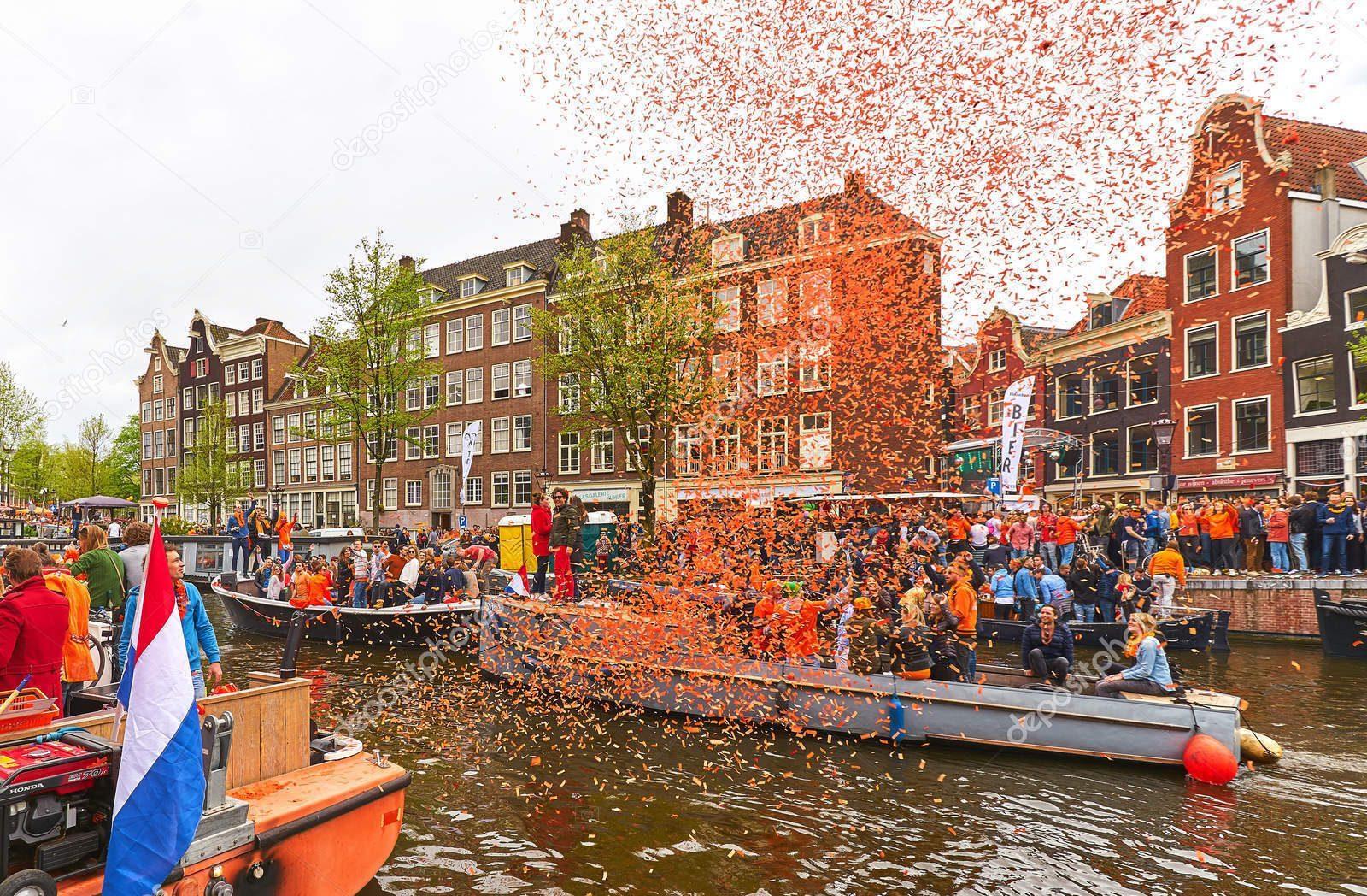 Festa do Rei em Amsterdã nos países baixos