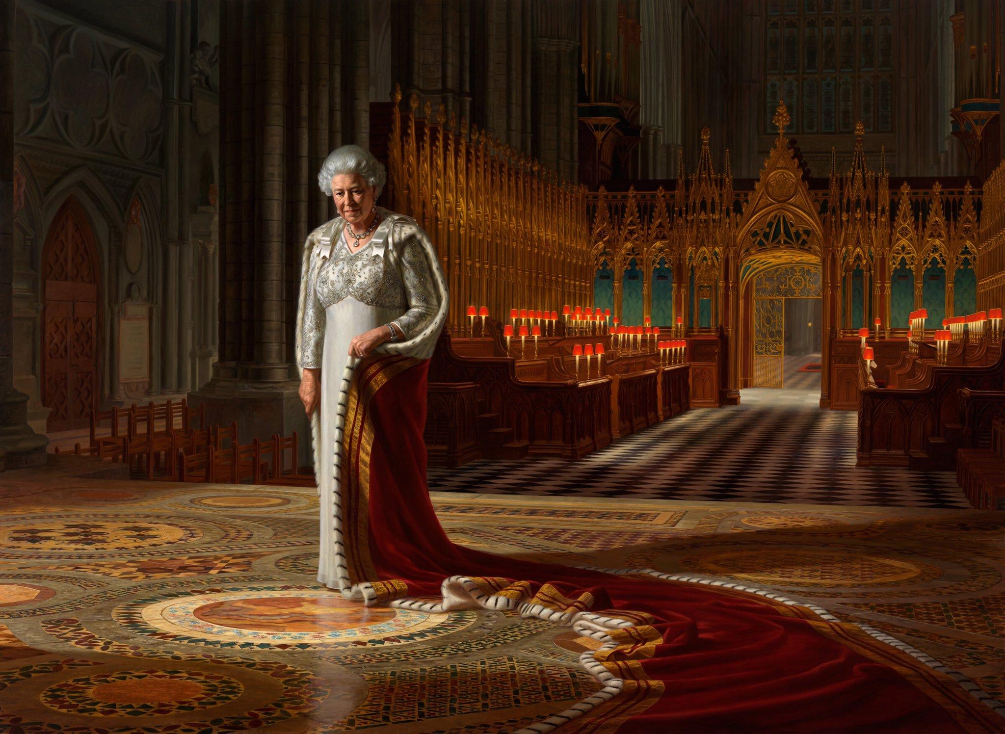 Um retrato de Sua Majestade a Rainha Elizabeth II, 2012, óleo sobre tela por Ralph Heiman
